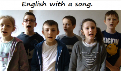 English with a song.