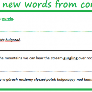 Studying new words from  context.