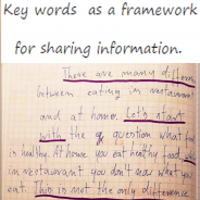 Key words  as a framework  for sharing information.
